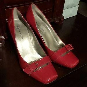 """""""Anne Klein"""" Red Patent Heels"""